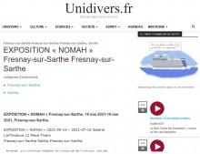 EXPOSITION « NOMAH » Fresnay-sur-Sarthe de Unidivers.fr
