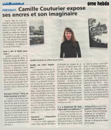 Camille Couturier expose ses encres et son imaginaire de Orne Hebdo