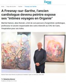 "A Fresnay-sur-Sarthe, l'ancien cardiologue devenu peintre expose ses ""intimes voyages en Organie"" de Orne Hebdo"