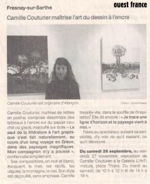 Camille Couturier maîtrise l'art du dessin à l'encre de Ouest France