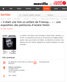 « Il était une fois un enfant de Fresnay... » : une exposition des peintures d'André Voisin de Ouest France