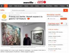 Fresnay-sur-Sarthe. Nomah expose à la galerie l'ArTmature de Ouest France